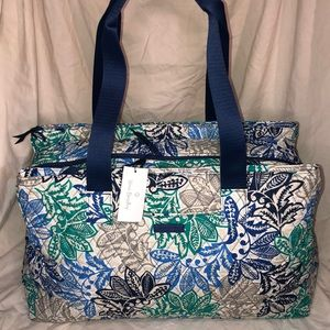 Vera Bradley Triple Compartment Travel/ Baby Bag